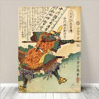 "Vintage Japanese SAMURAI Warrior Art CANVAS PRINT 36x24""~ Kuniyoshi  #273"
