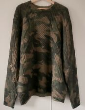 Polo Ralph Lauren Wool Knitted Moro Sweater Camouflage L Large NEW RARE
