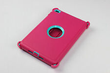 Shockproof Defender Case For iPad Mini 4 Triple Layer (Stand fits Otterbox) USA
