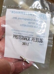 **NEW** PE9116 PASTERNACK SMB Jack to SMB Jack Adapter LOT OF 2