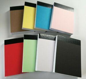 08 PADS A7 PLAIN WHITE PAPER MINI JOTTER NOTE PAD MEMO NOTEBOOK 100 sheets p/pad