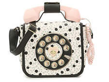NWT Betsey Johnson Kitsch Telephone Crossbody Black Dot & Pink - COLLECTIBLE!