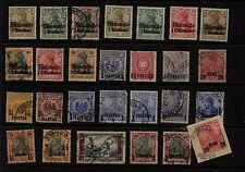 German  Colonies lot with Morocco 39, Turkey 23 used                 KEL09131