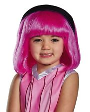 Disguise Stephanie Lazy Town Cartoon Network Pink Wig - One Child Size