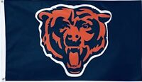 Chicago Bears 3x5 FT Flag Navy Blue, Burnt Orange, White Football NFL Banner