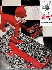 VINTAGE con EMU 6117 giocattolo Tappetino Da Bagno Pantofole Knitting Pattern