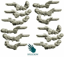 Freebooters Orcs Hands with Hand Guns, Good for 40k or AoS, Spellcrow Bitz
