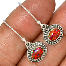Silver Earrings Jewelry Ae103808 136A New listing Fire Opal 925 Sterling