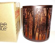 Yankee Candle TWILIGHT / FOREST SILHOUETTES Votive Holder ~  FREE SHIPPING