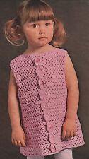 Toddlers/Girls Crochet Dress 22-30 inch chest.  Crochet Pattern.