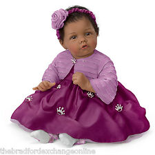Elly Knoops Pretty As A Princess Poseable Baby Doll in Satin Dress: Ashton Drake