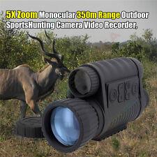 Black Goggles Monocular Telescope Ir Surveillance Camera Night Vision Scope