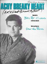 BILLY RAY CYRUS  Achy Breaky Heart  sheet music songsheet