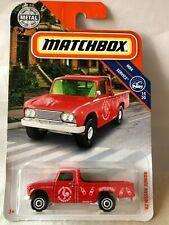 NEW 2019 Matchbox Mainline '62 Nissan Junior 89/100 MBX Service Red