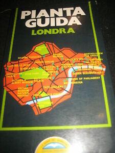 PIANTA GUIDA LONDRA-- EDIZIONI PRIMAVERA--1989**