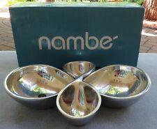 Large Nambe Infinity Pattern 2 Piece Serving Set Bowls Mint & NIB