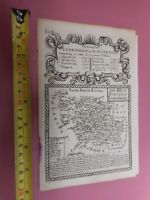 100% ORIGINAL WEST RIDING OF YORKSHIRE MAP BY E BOWEN  C1720 VGC