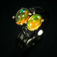 New year Christmas Gift! Natural Opal 925 Sterling Silver Ring / RVS313