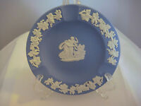 "Wedgewood Vintage Blue Jasperware Ashtray 4-1/2 "" Round Made in England"