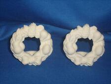 Partylite Porcelain Bisque Set 2 Wreath Candle Taper P7031