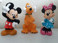 3 x Walt DISNEY Characters - MICKEY MOUSE, MINNIE MOUSE & PLUTO PVC Figurines