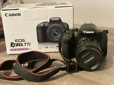 Canon EOS Rebel T7i - 24.2 Digital SLR Camera with 3-inch LCD w/18-55mm Lens