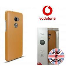 Genuino Funda De Estilo Vodafone Smart N8 Premium Slim de cuero duro como tan Cubierta