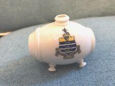 W H Goss Crested Ware 'Model of Old Swiss Vinegar Bottle - Worthing Crest.