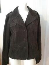 Women's Ann Taylor Loft Jacket Size 10 Brown Button Down Long Sleeve Cotton