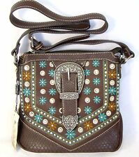 Montana West Handbag Western Buckle Croc Floral Crossbody Concealed Carry Purse