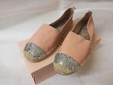 NEW Faith Light Pink Mock Snake Toe Cap Leather Espadrilles Shoes UK 8 EUR 41