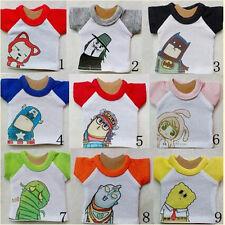 Lovely 9 Cute Cartoon Character T-shirt/Top 1/4 1/6 1/8 YOSD BJD Doll Clothes