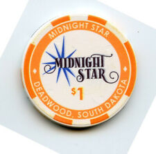 1.00 Casino Chip from the Midnight Star Casino Deadwood South Dakota