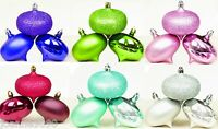 ONIONS X 3 CHRISTMAS TREE BAUBLES DECORATION SHATTERPROOF DECORATIONS MULTI