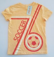 NEW Cat and Jack Boy's Orange Soccer T-Shirt ▪Size XS (4-5) ▪FREE Shipping!