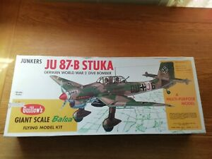 Junkers JU 87-B Stuka Giant Scale 1:16 Guillow's Balsa Aircraft Kit 870mm Wingsp