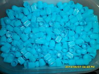 12 x Baby Blue Plastic Dust Caps for Car,Bike,ATV + Get another packet FREE