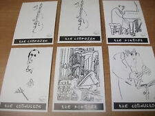 DRAWINGS TO LISTEN TO Set of 5 original postcards by Anneleen Stam