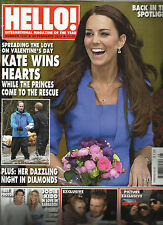 HELLO !   FEBRUARY, 24th 2014  NO.1316  KATE WINS HEARTS * BACK IN THE SPTLIGHT