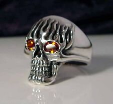 Sterling Silver .925 4 Skull Band Ring MB03//S