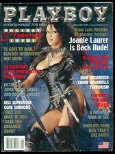 Playboy Magazine, January, 2002, Joanie Laurer, Gene Simmons, Kiss, Interview!