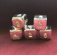 "1 oz Hand Poured 999 Silver Bullion Bar ""Dice"" by YPS - Yeager's Poured Silver"