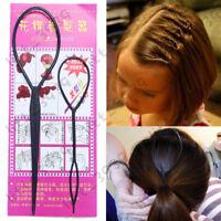 2Pcs/Set Styling Clip Bun Maker Hair Twist Braid Ponytail Tool Accessories Party