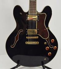 Epiphone Sheraton II Sheraton 2 Semi Hollow Body Electric Guitar in Black Ebony