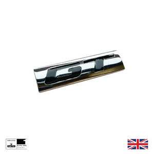 Chrome And Black Metal GT Boot Badge For BMW Mercedes Mustang Golf Honda