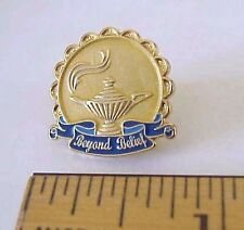 "GENIE ALLADIN LAMP ""BEYOND BELIEF"" LAPEL PIN"