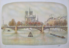 ROLF RAFFLEWSKI NOTRE DAME PARIS FRANCE Hand Signed Limited Edition Lithograph