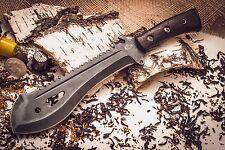 Russian TAIGA MACHETE Knife tool wood handle with leather sheath by Semin