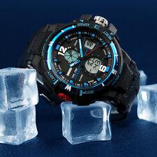 Resistente Al Agua Hombre Deporte Cuarzo Reloj De Pulsera Analogico Digital