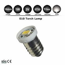 1pc Lamp LED Bulb 3V Warm White MES E10 1447 Screw for Torch bike bicycle light
